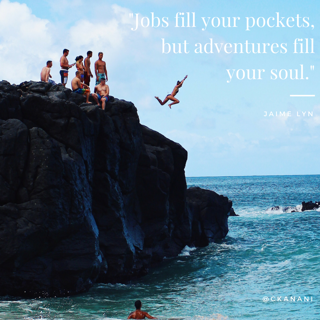 """Jobs fill your pockets, but adventures fill your soul."" #travelquote 