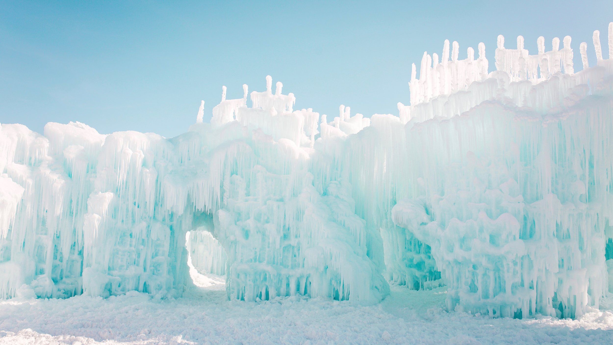Ice Castles in Midway, Utah, USA