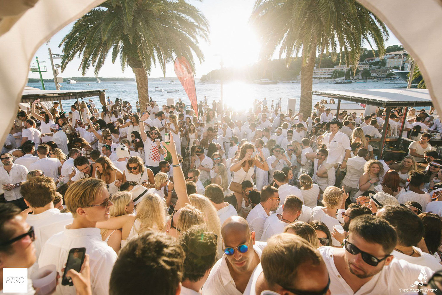 The famous Yacht Week white party