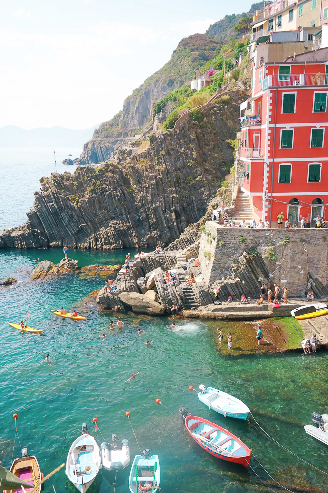 Riomaggiore, the southern-most of the 5 towns of Cinque Terre