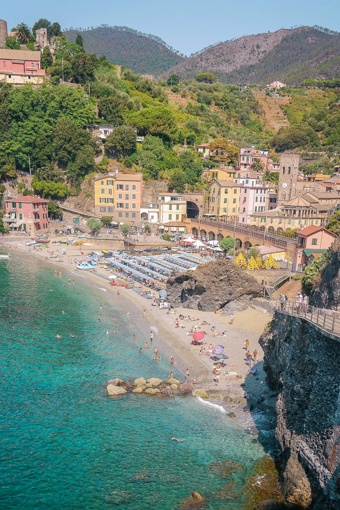 Views of Monterosso from the hike on the way down. Hike the 5 towns of Cinque Terre