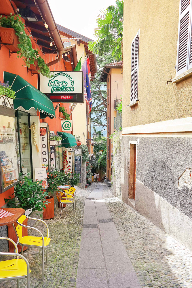 The streets of Bellagio on Lake Como, Italy