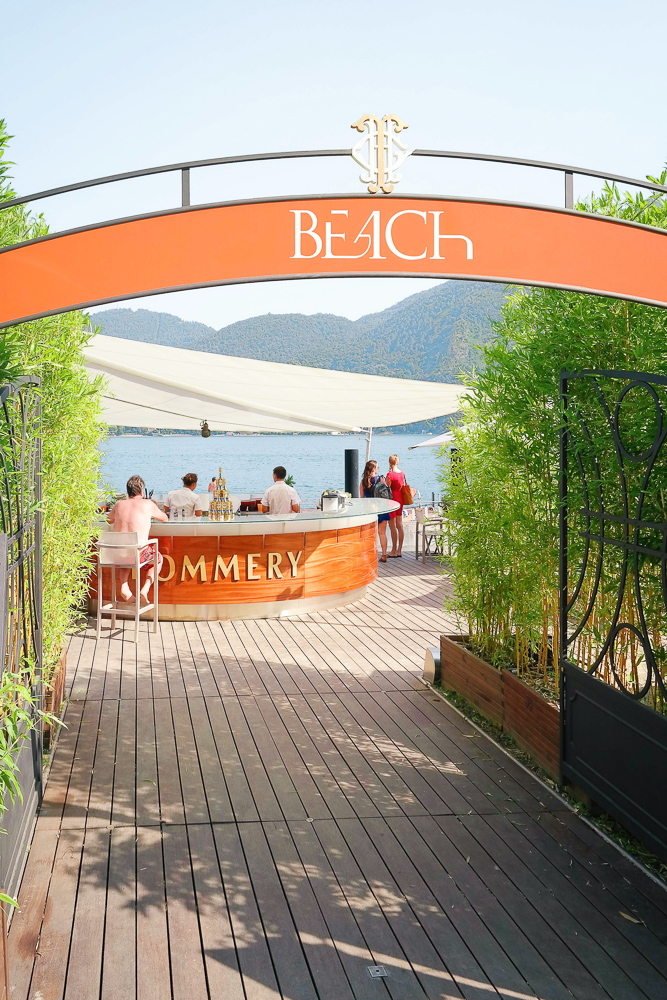 The Beach restaurant in Tremezzo on Lake Como