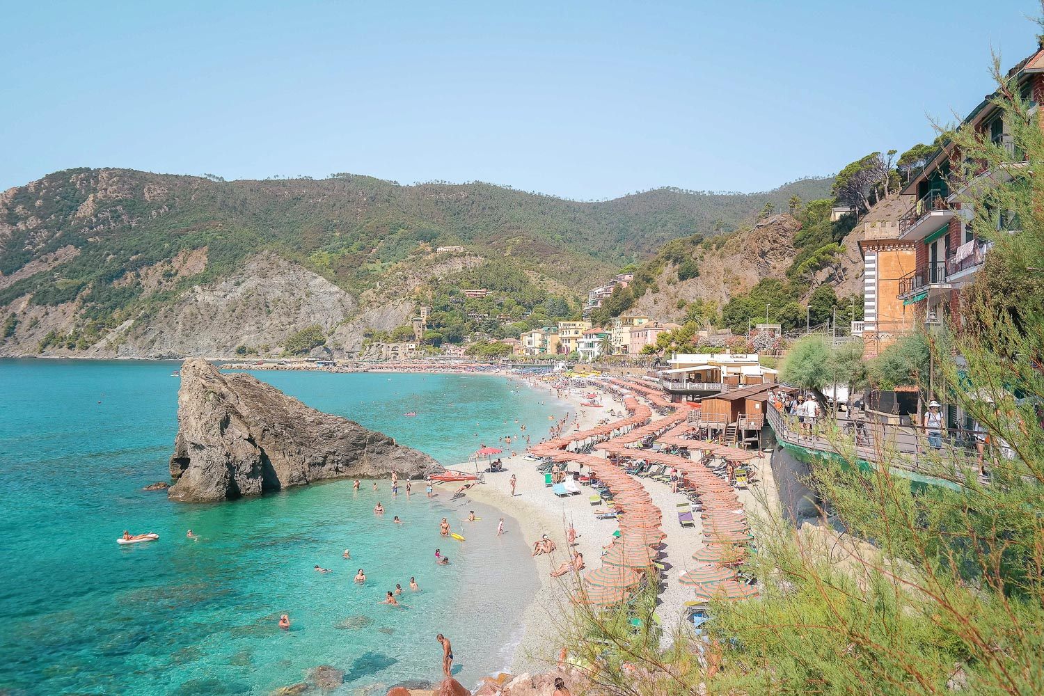 World (and Instagram) famous Monterosso, Cinque Terre, Italy