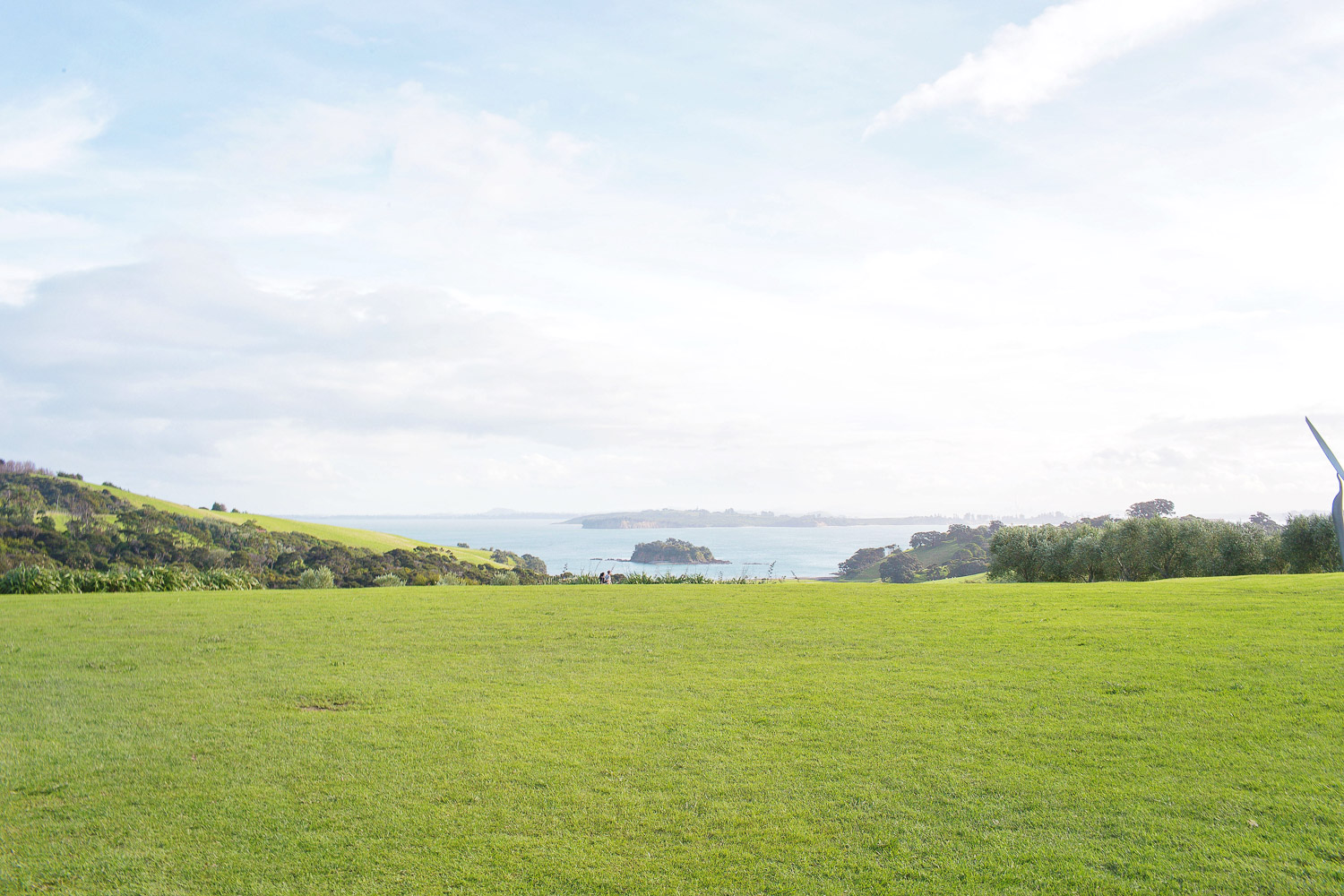 The unreal view from Cable Bay winery and restaurant on Waiheke Island, New Zealad