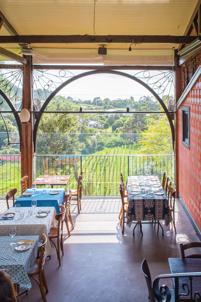 The beautiful restaurant at Casita Miro