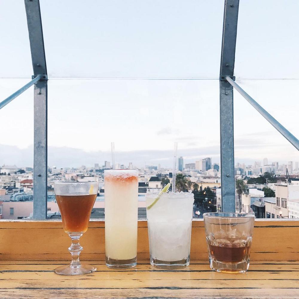 Rooftop brunch views in San Francisco at El Techo