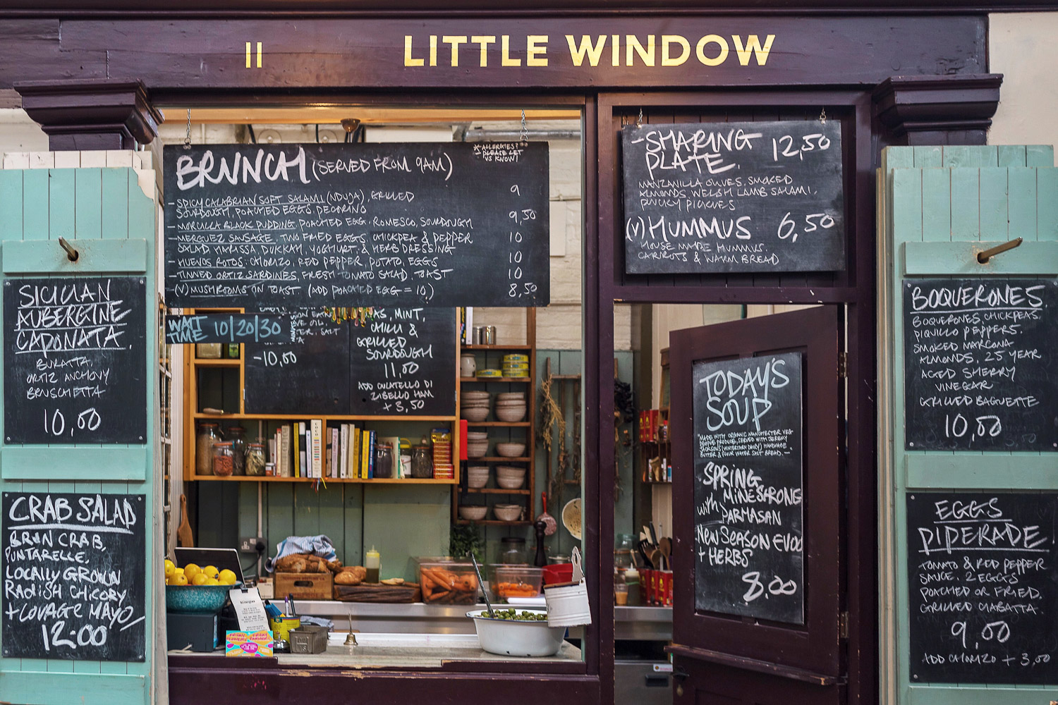 Little Window at Altrincham Market near Manchester, England.  The cutest storefront!