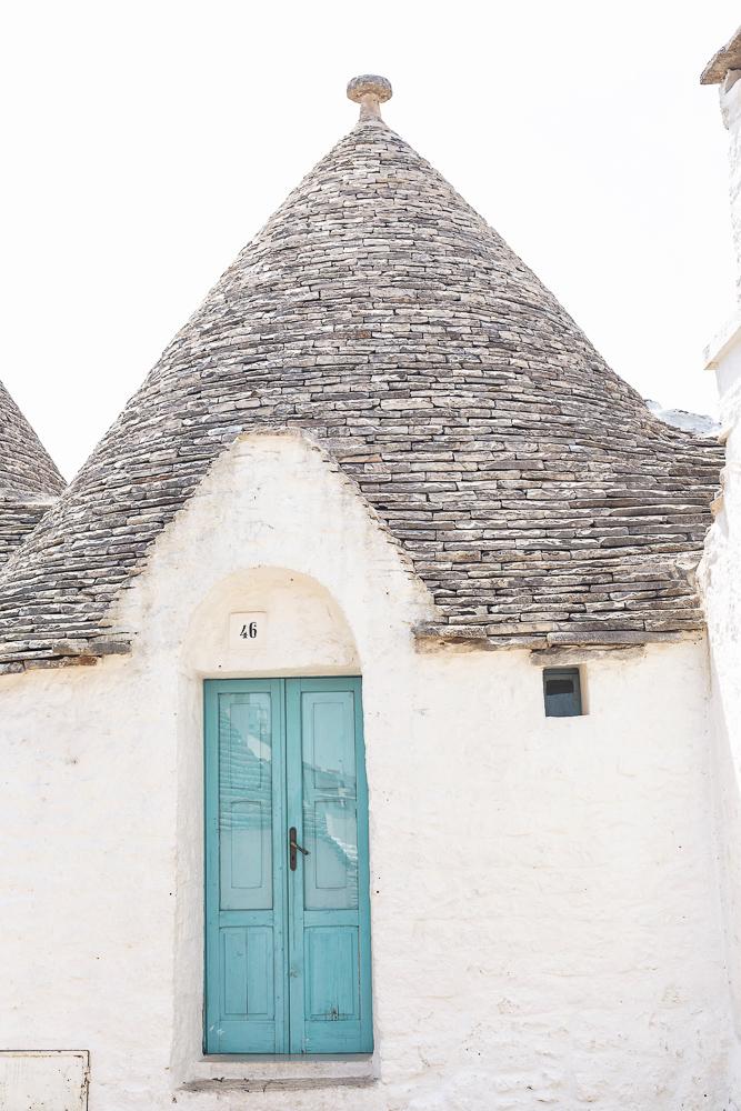 Alberobello trullo home with turquoise door