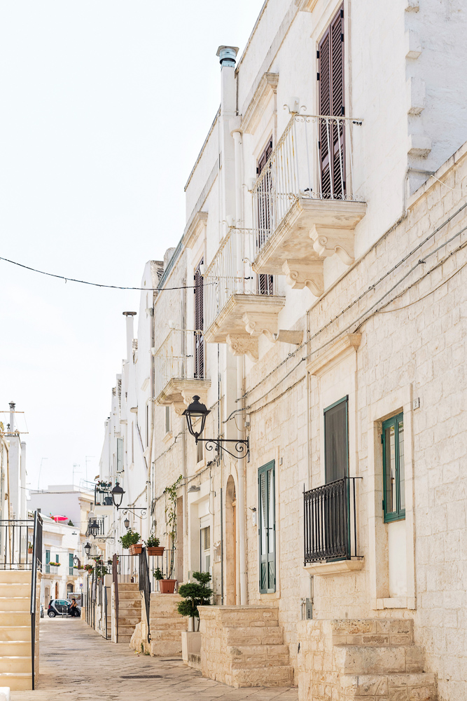 The empty streets of Locorotondo