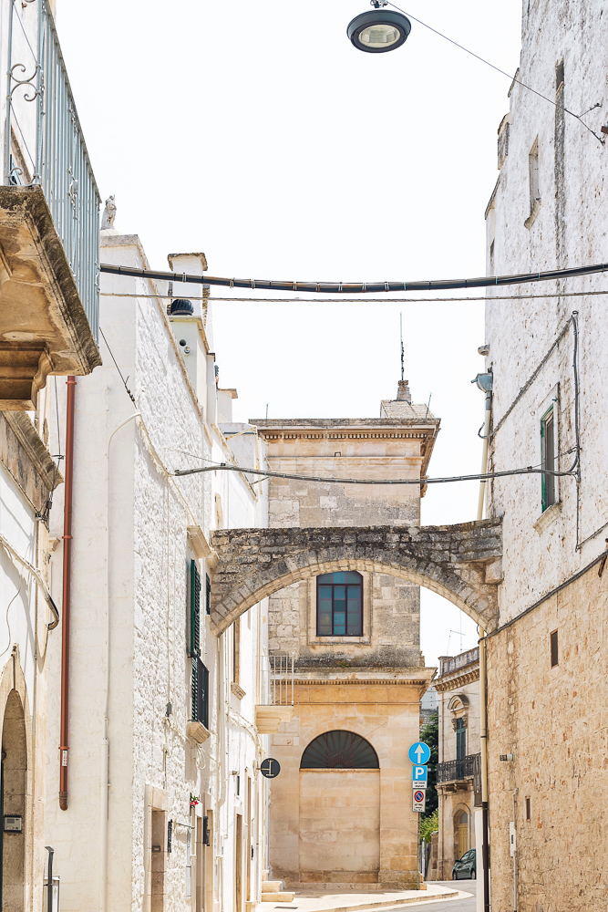 Locorotondo, a beautiful whitewashed town covered in cobblestone streets