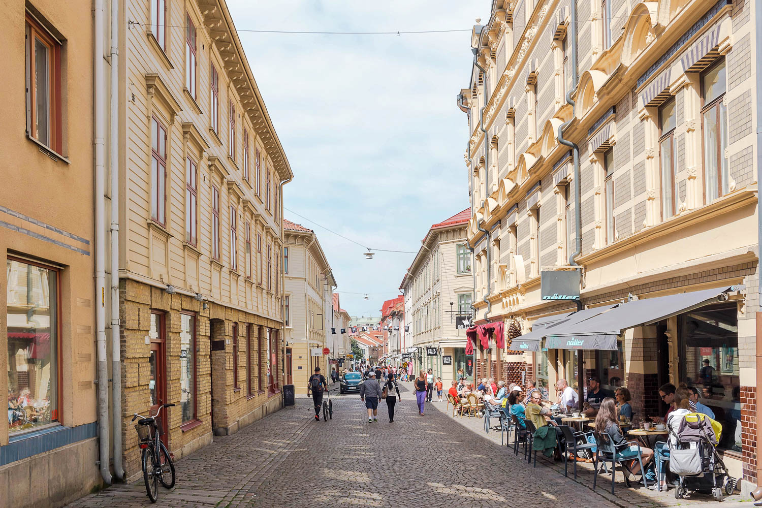 Haga, one of the oldest neighborhoods in Gothenburg, full of beautiful shops, cafes, and cobblestone streets making it a great place to explore