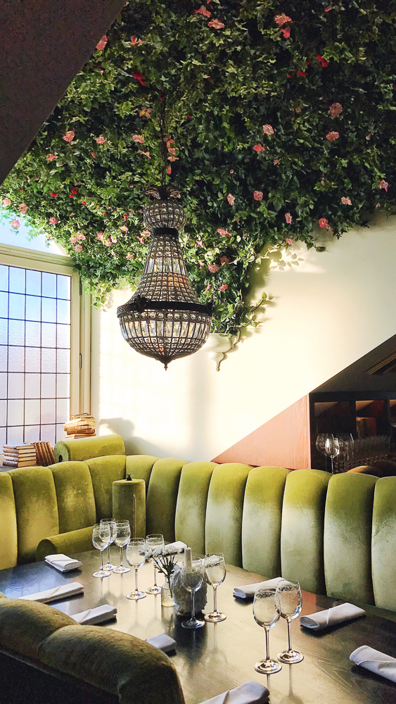 Restaurant Atelier, a gorgeous Parisian-style restaurant located on the top floor of Hotel Pigalle in Gothenburg. Try the four course menu