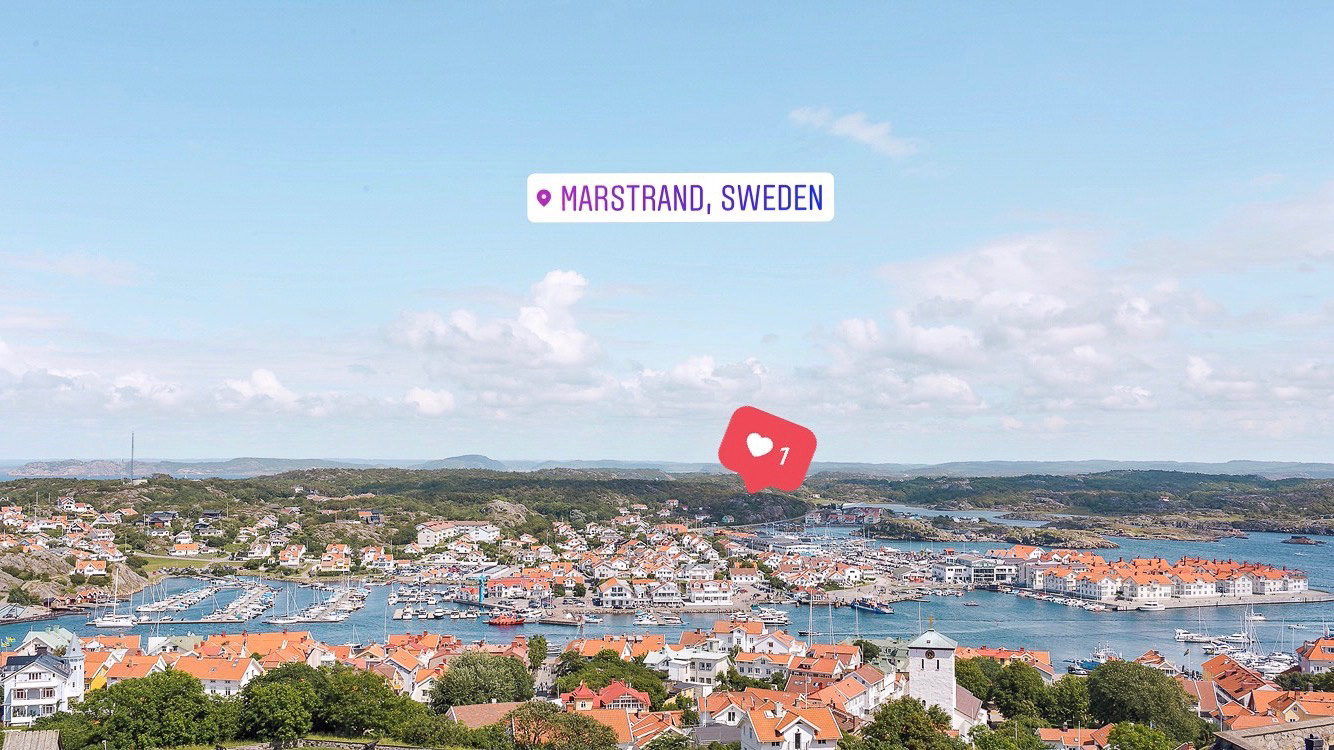 The most amazing views of Marstrand from the top of Carlsten Fortress