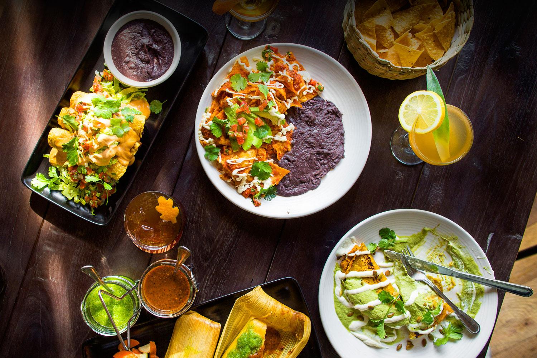 A delicious spread at Gracias Madre in San Francisco, a vegan Mexican restaurant