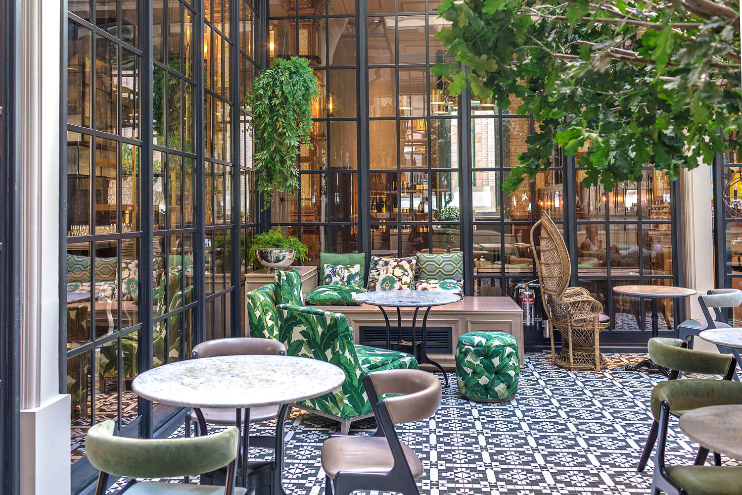 The most Instagrammable spot in Manchester? The winter garden room at the Refuge inside the Principal Manchester