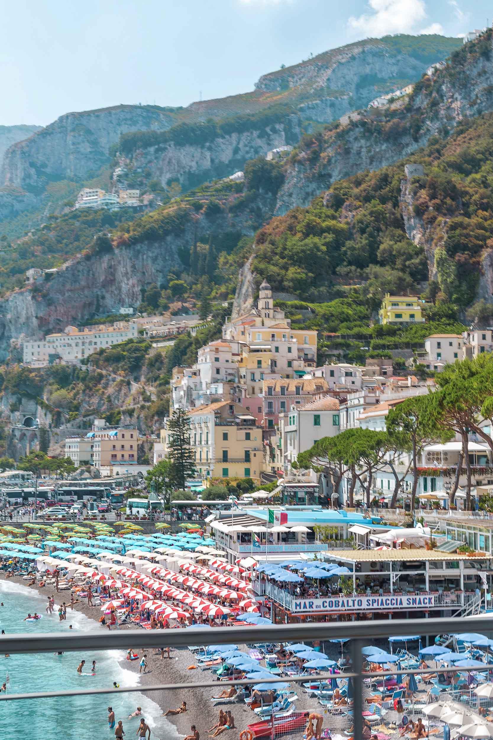 The beach in Amalfi