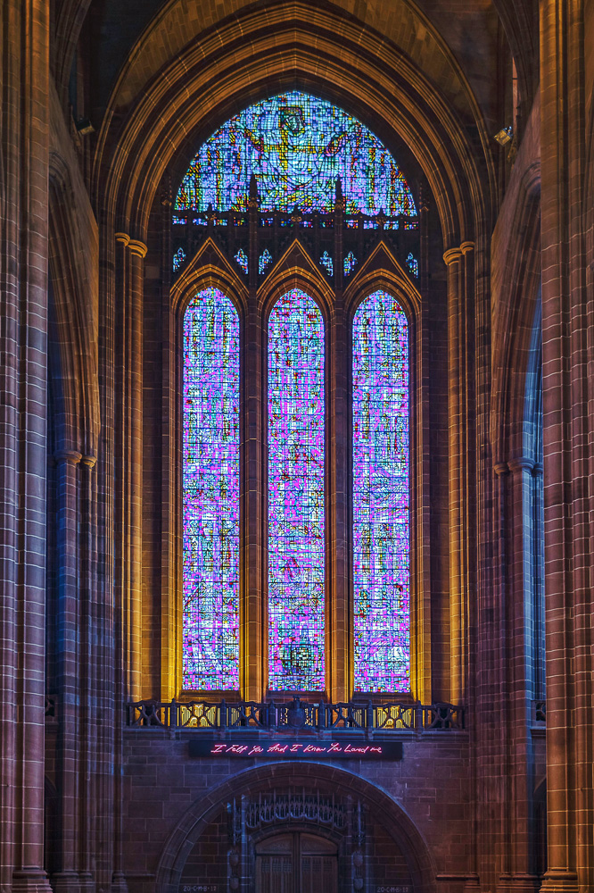 The Liverpool Anglican Cathedral, Britain's largest cathedral