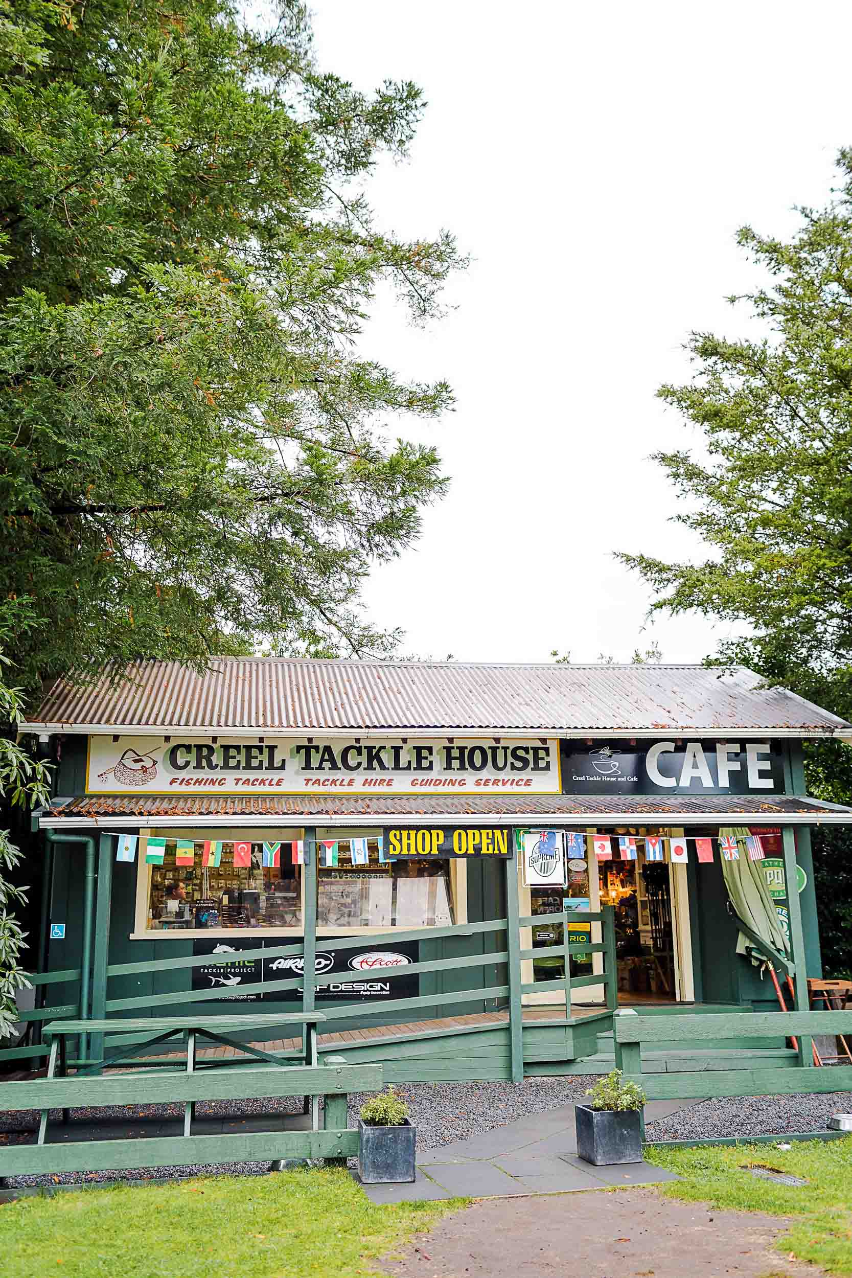 Creel Tackle House and Cafe is a great place for breakfast in Turani, New Zealand