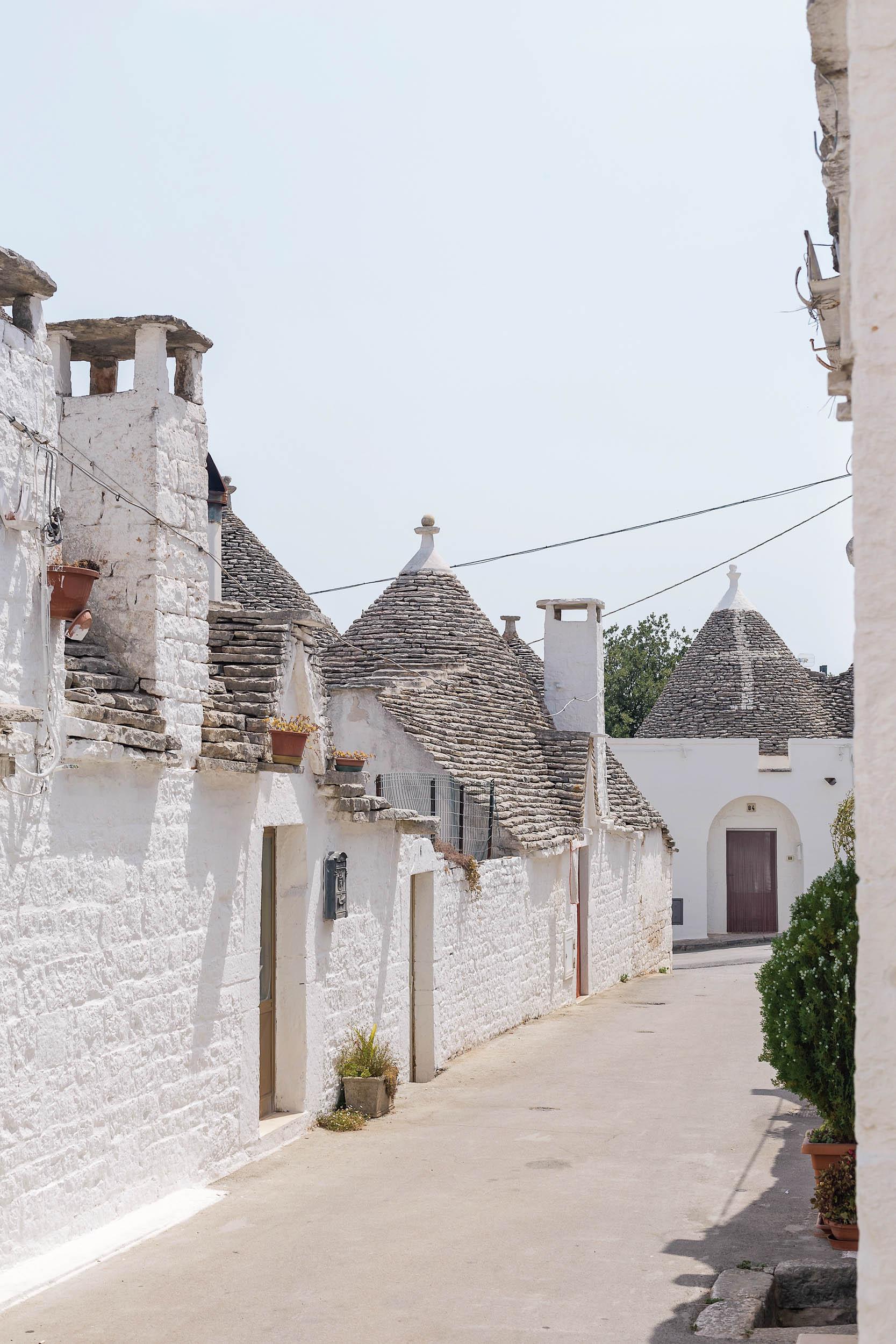 A picturesque street in Alberobello
