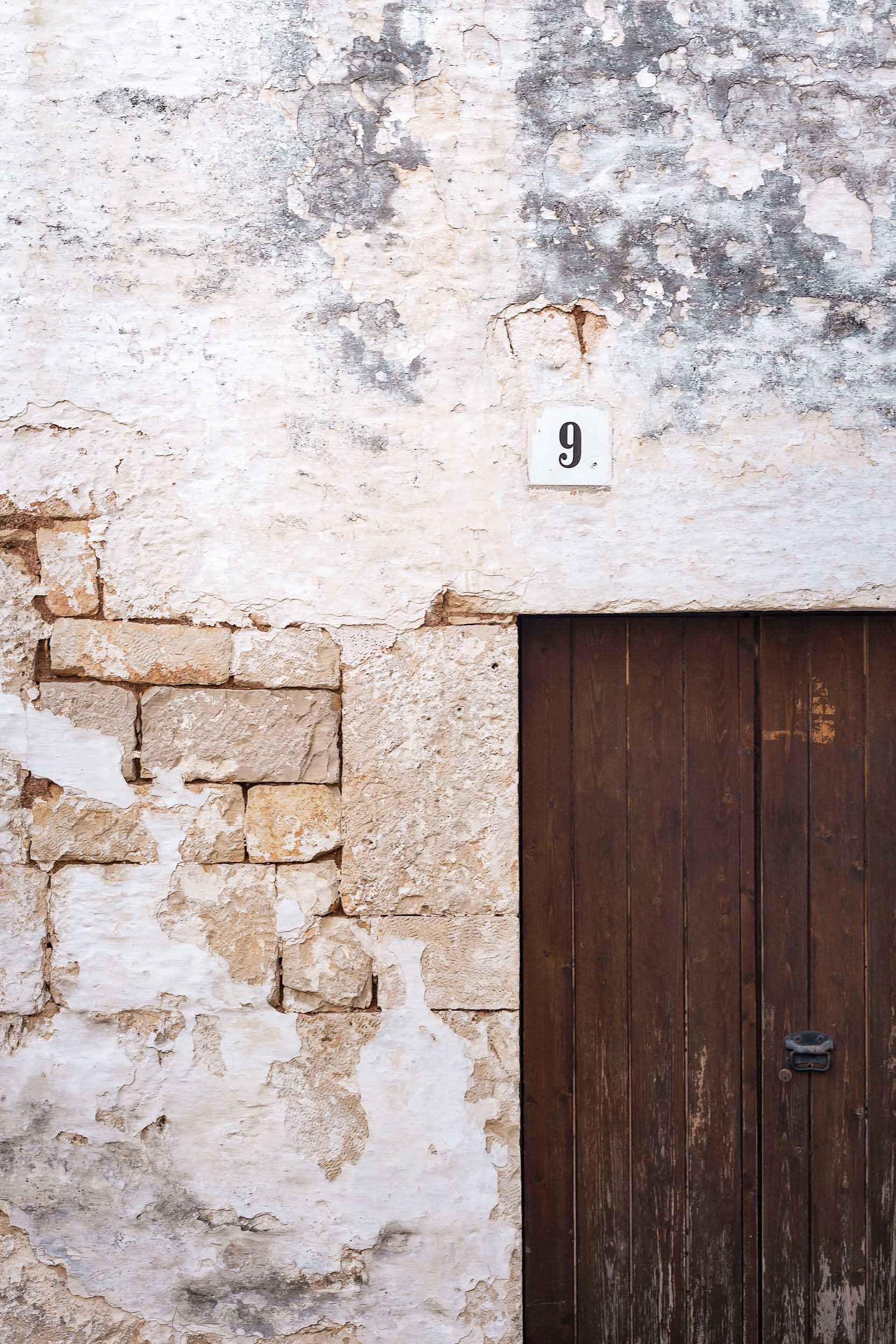 A beautiful building wall in Puglia, Italy