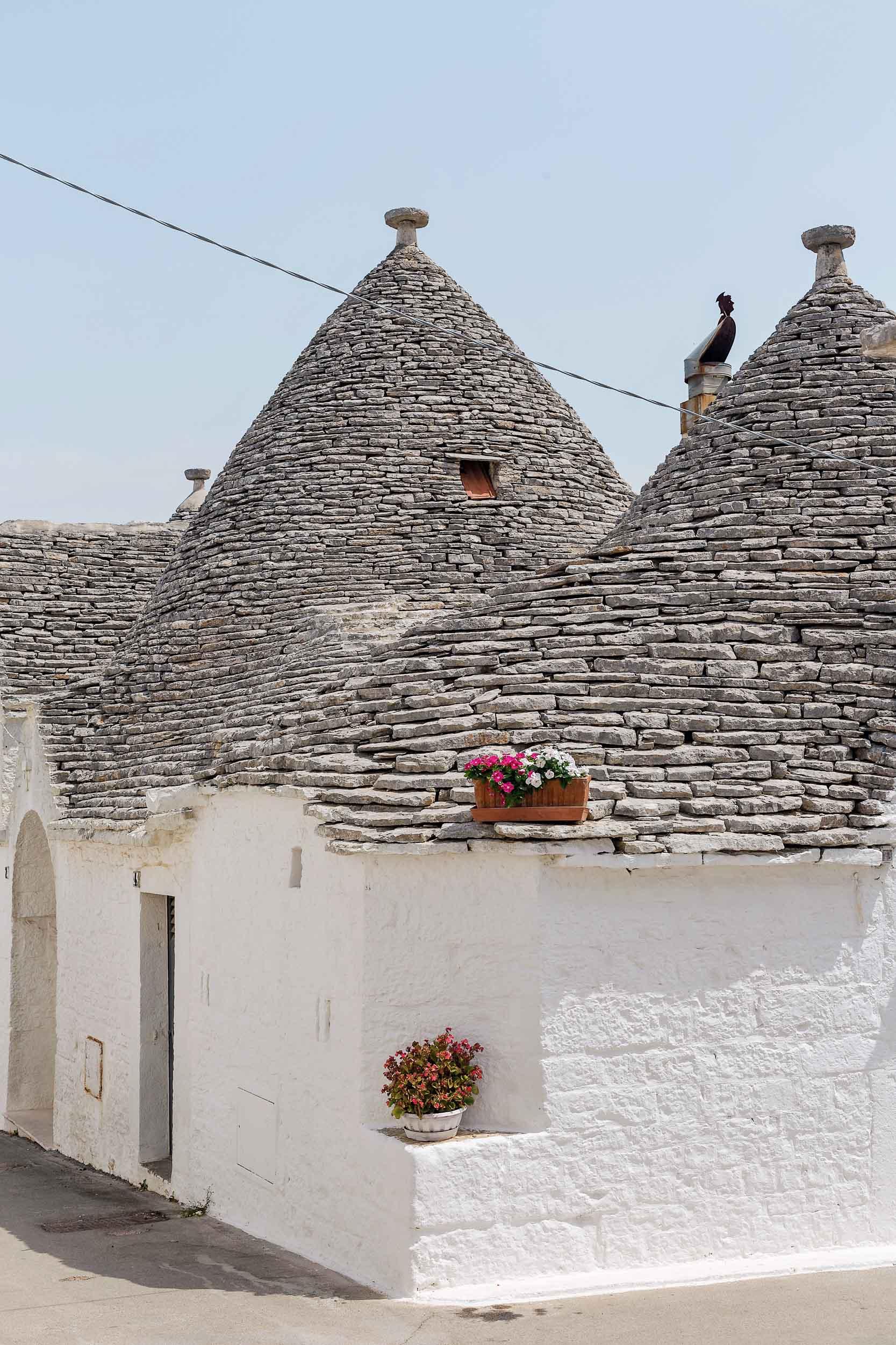 Trullo buildings in Alberobello, Puglia, Italy