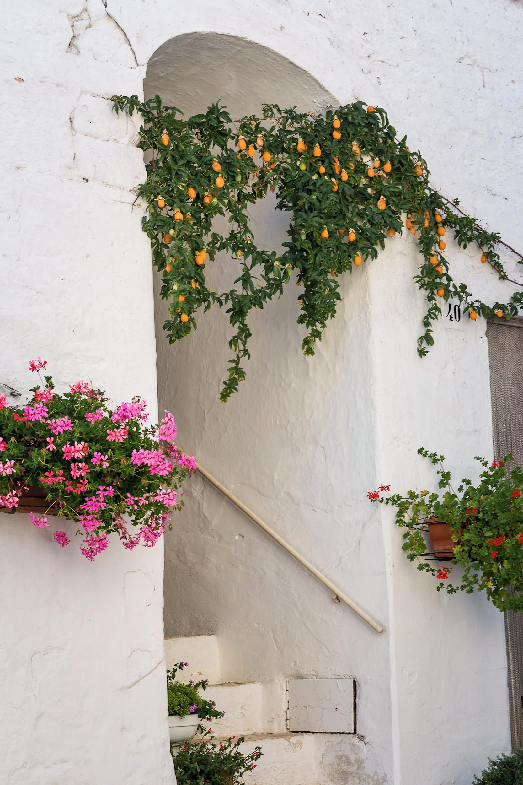 White-washed walls in Puglia
