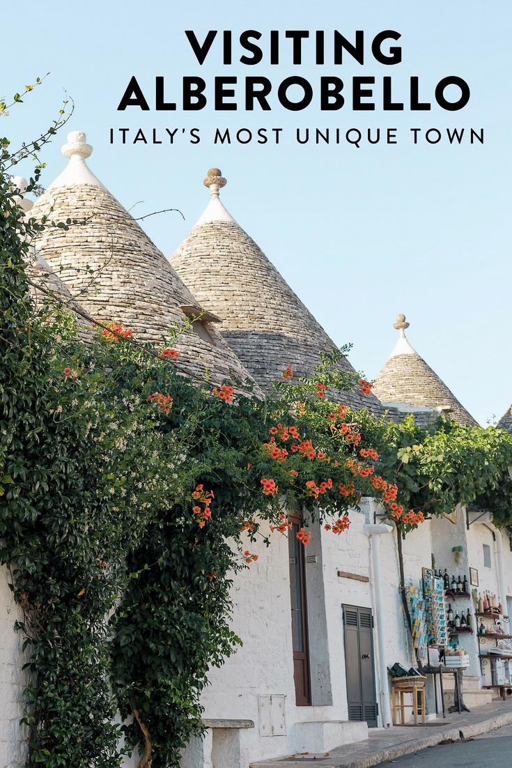 A guide to visiting Alberobello, Puglia, Italy's most unique and picturesquetown. The perfect off-the-beaten-path destination!