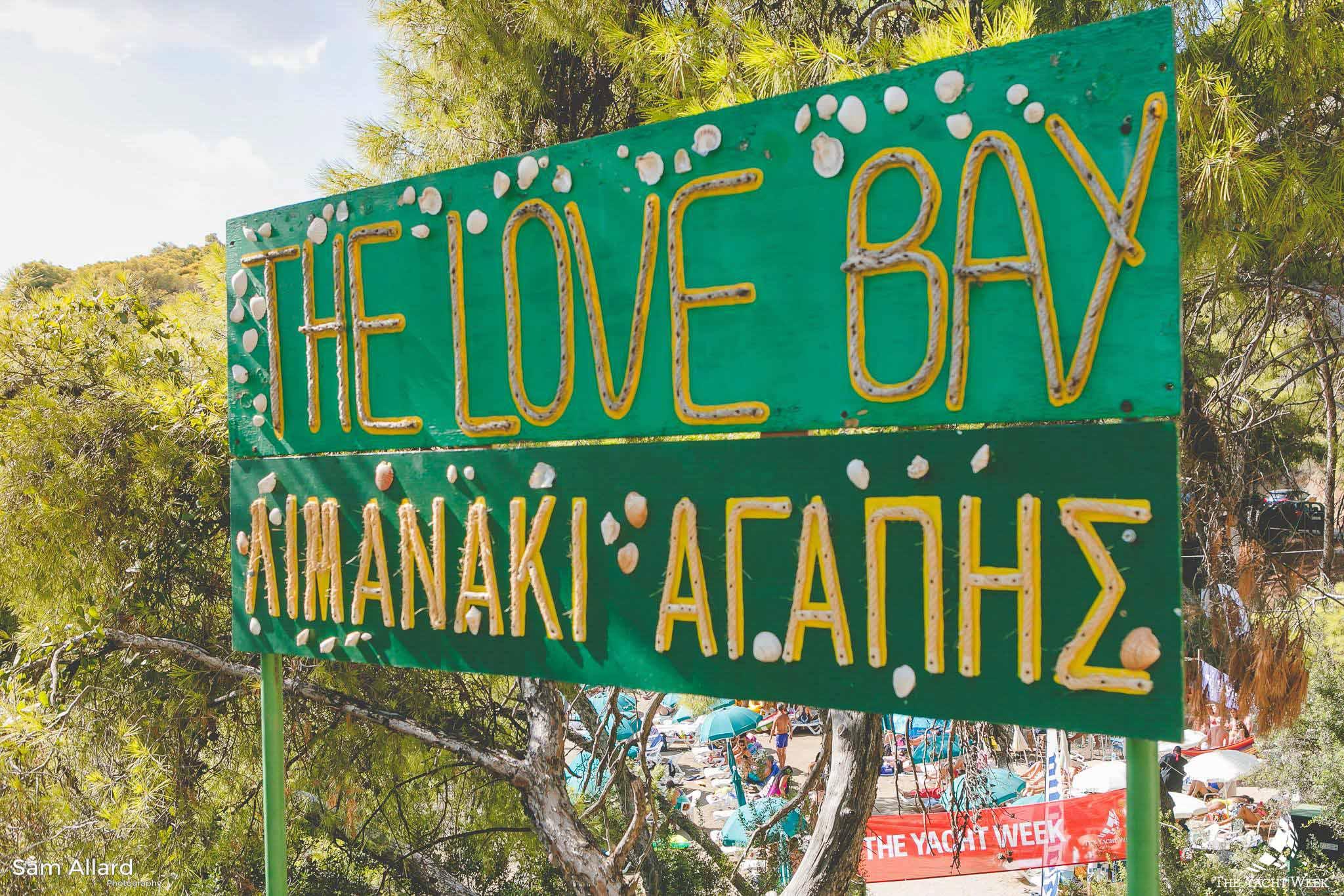 The Love Bay in Poros, Greece