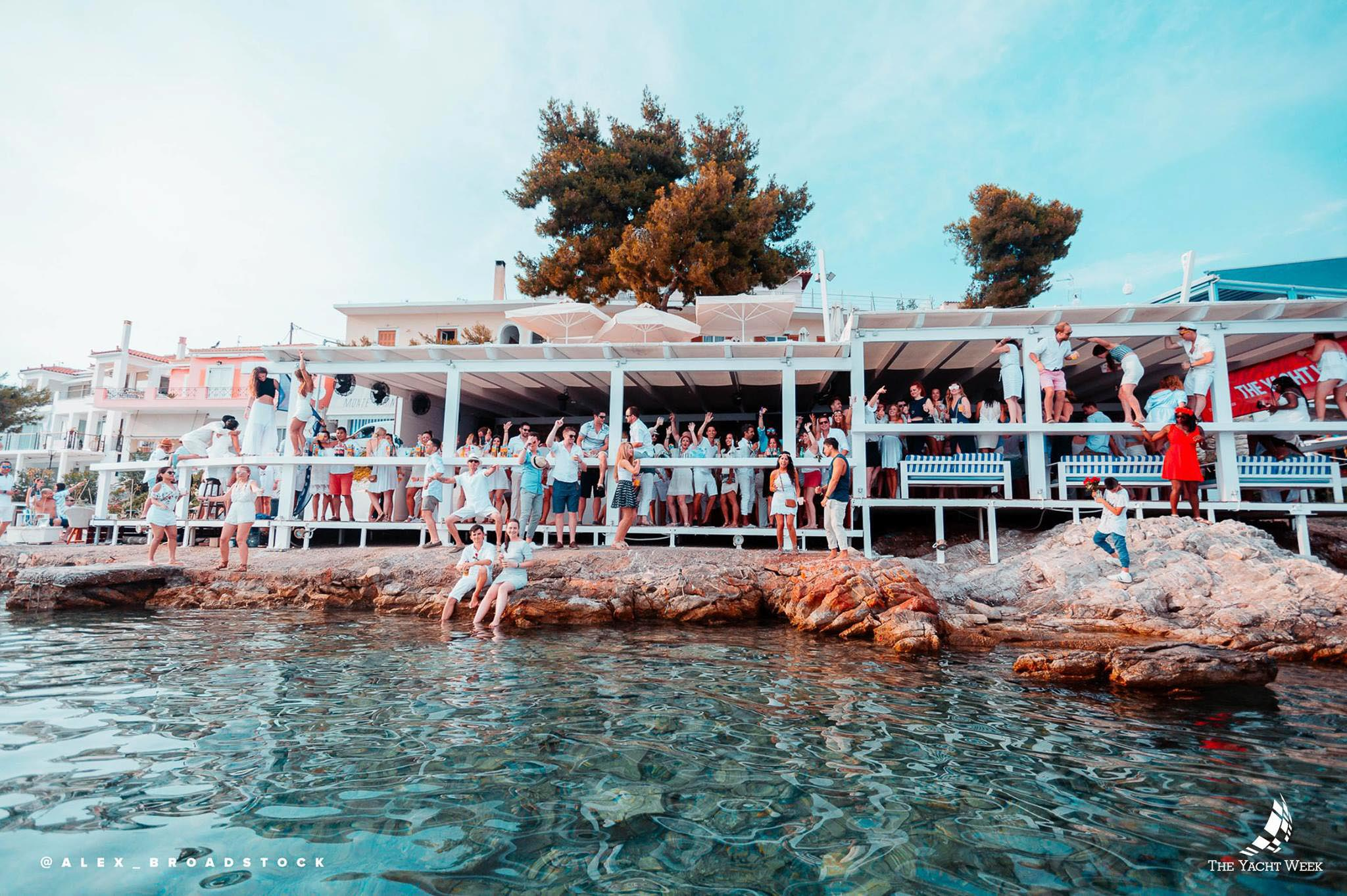 World famous Yacht Week White Party at Cava Bianco in Greece