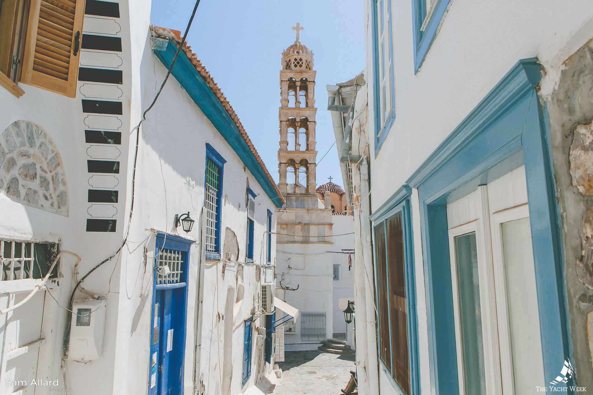 Exploring in Hydra, Greece with The Yacht Week