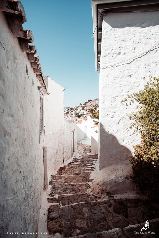 Alleyways in Hydra, Greece