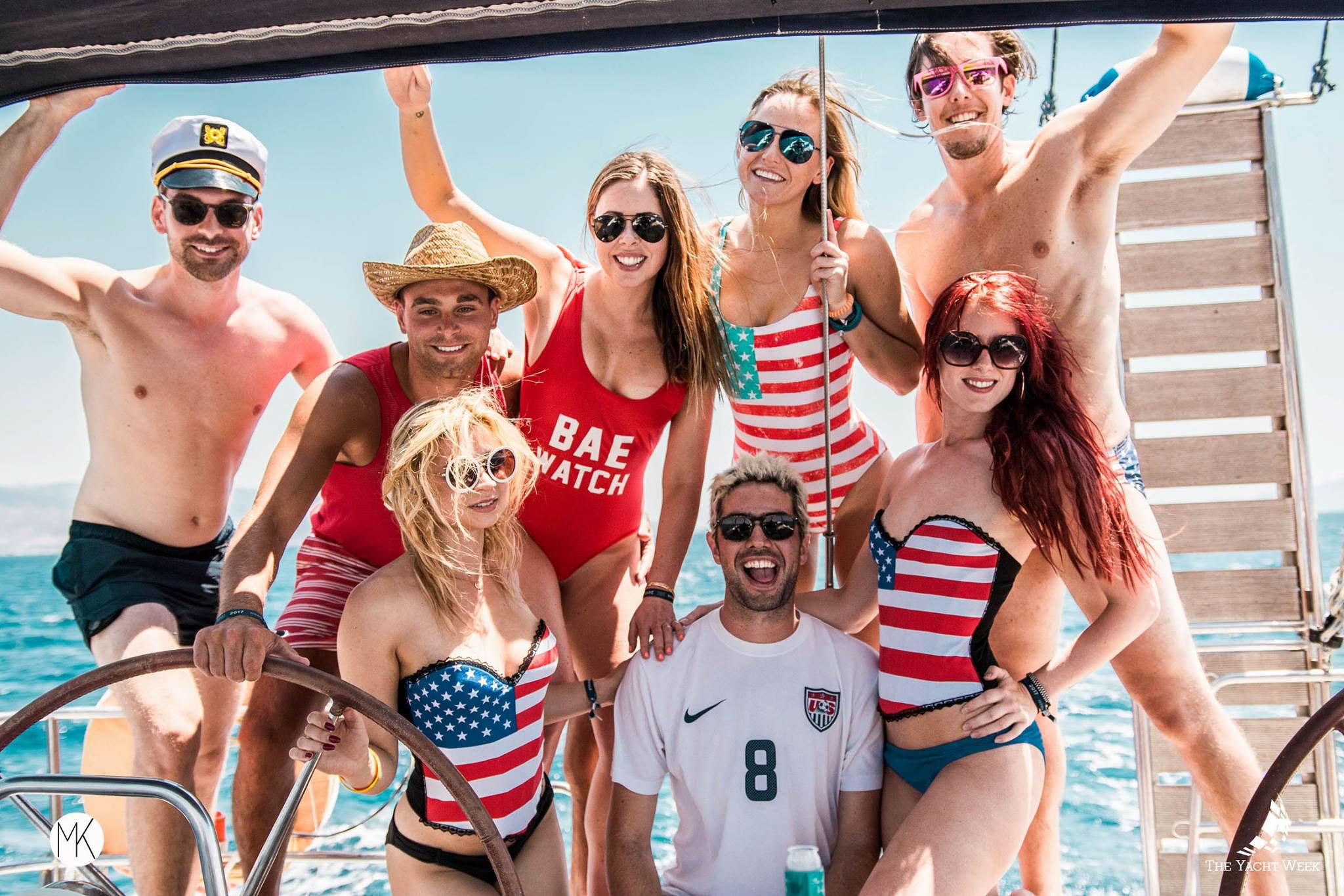 The Yacht Week regatta - American themed!