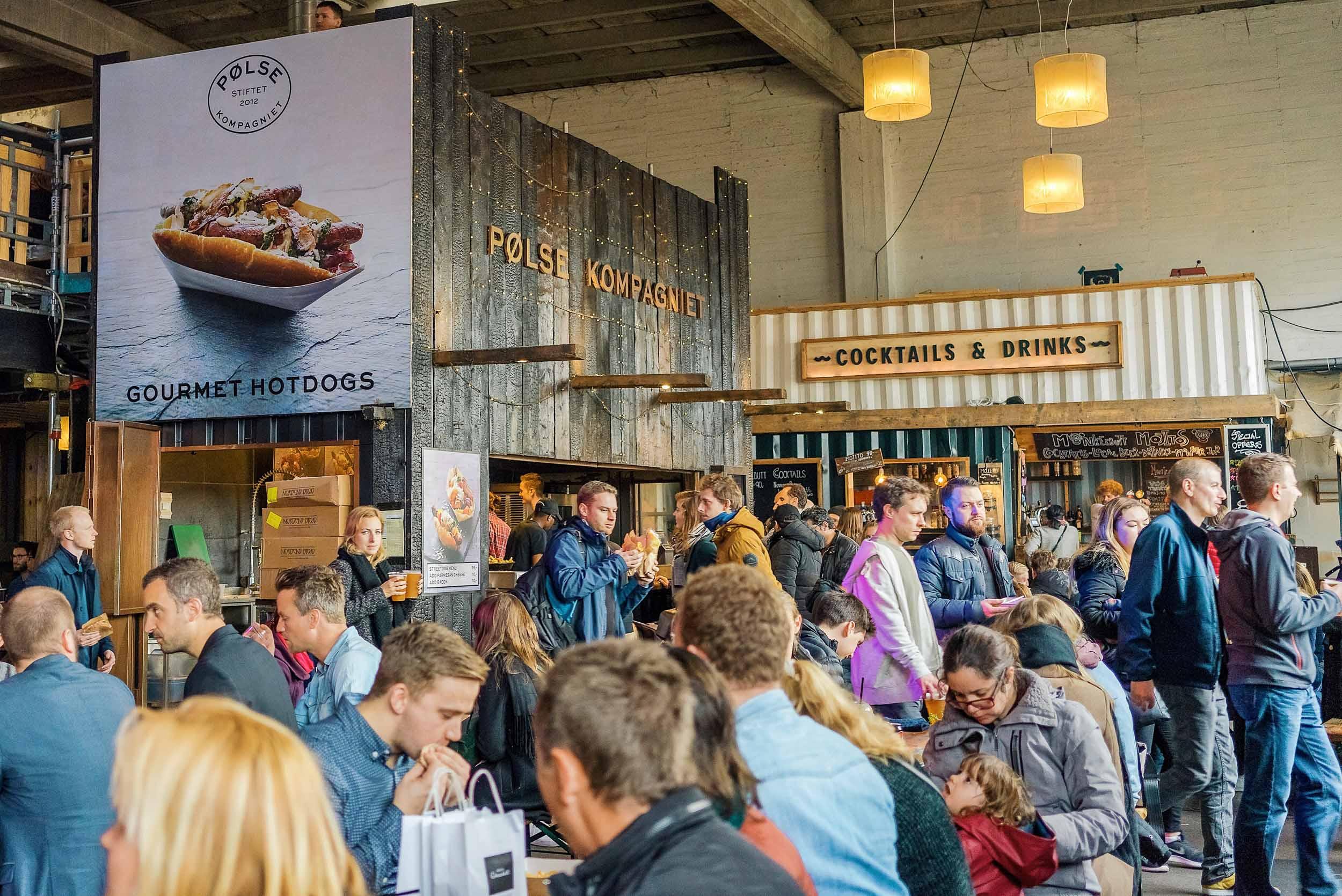 The Copenhagen street food market onPaper Island (Papirøen)