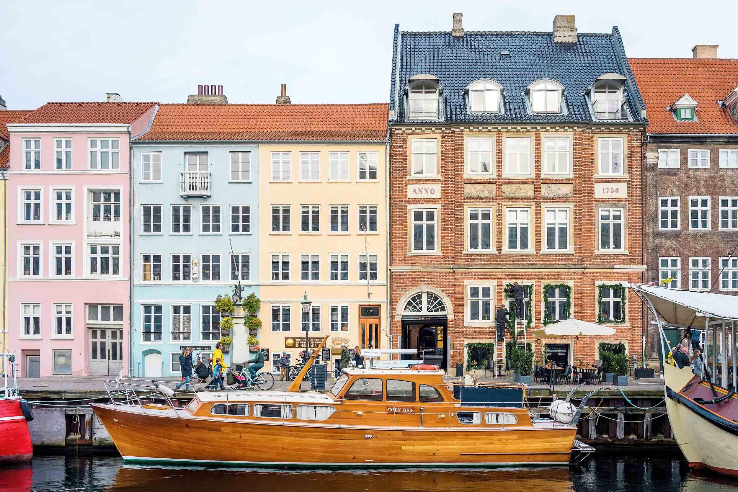 The colorful waterfront of Nyhavn in Copenhagen