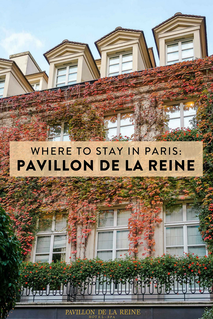 Le Pavillon de la Reine, located in the heart of Paris in le Marais and recently named one of the best hotels in the world by Conde Nast, is the best place to stay in Paris!