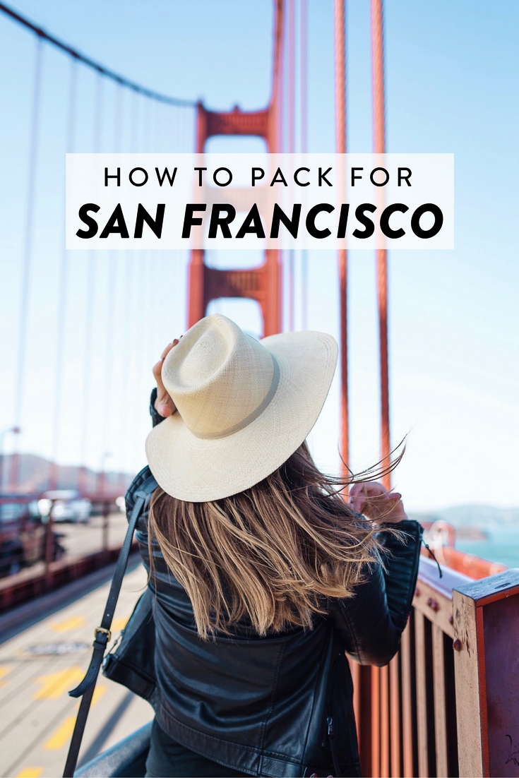 How to pack for a trip to San Francisco, California any time of the year! Free printable packing checklist included