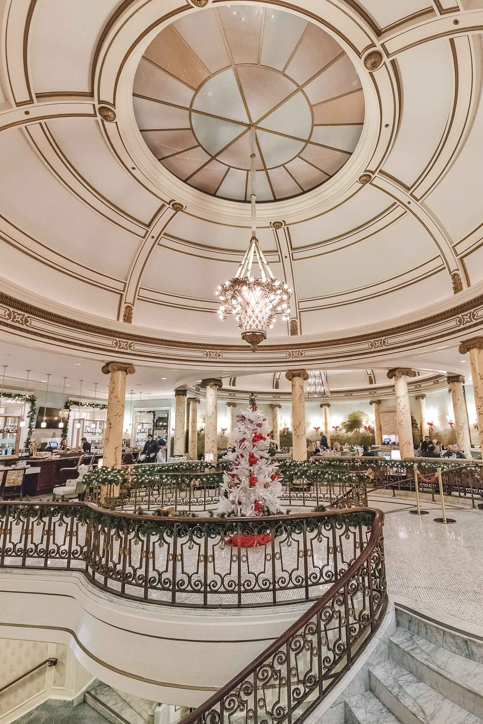 Laurel Court Restaurant & Bar at the Fairmont San Francisco offers afternoon tea year-round, but during the holidays there is a special holiday gingerbread tea!