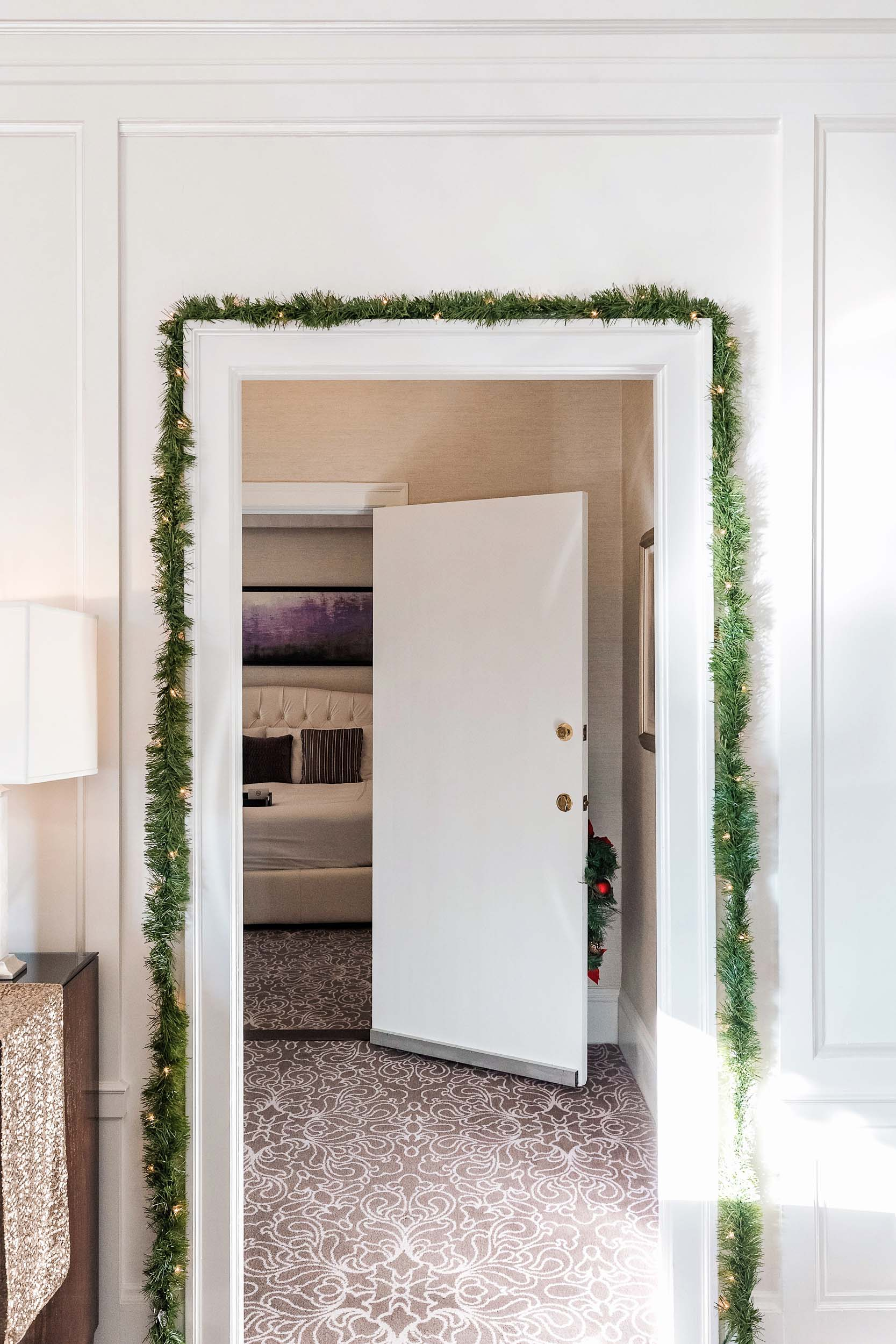 A festively decorated suite at The Fairmont in San Francisco