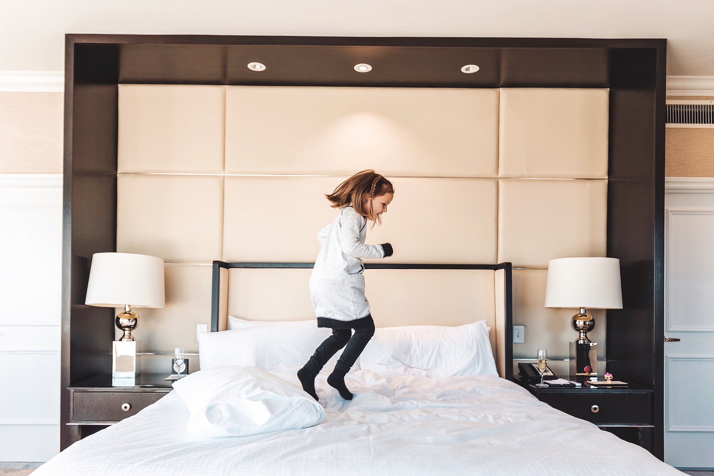Jumping around in excitement at The Fairmont San Francisco