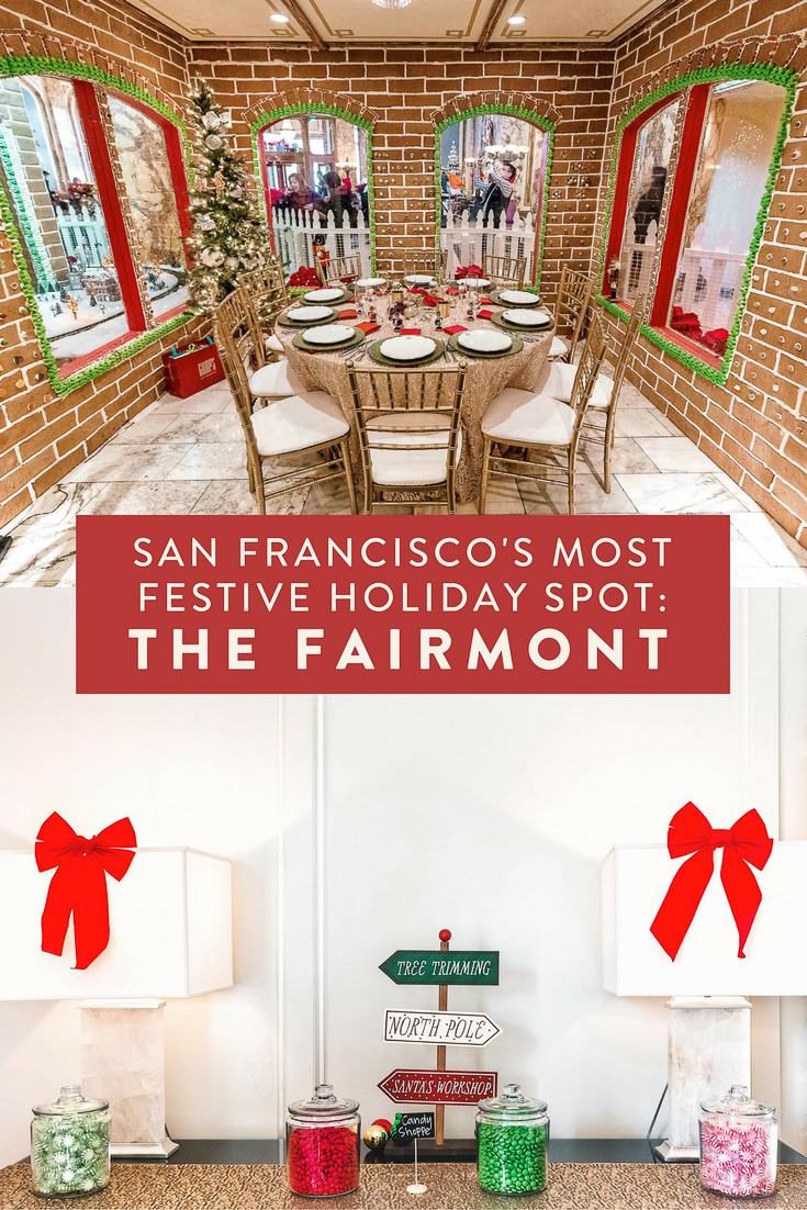 The Fairmont San Francisco is SF's most festive holiday spot!  Stay in the Santa Suite, go to holiday gingerbread tea, and see the world-famous, life sized gingerbread house.