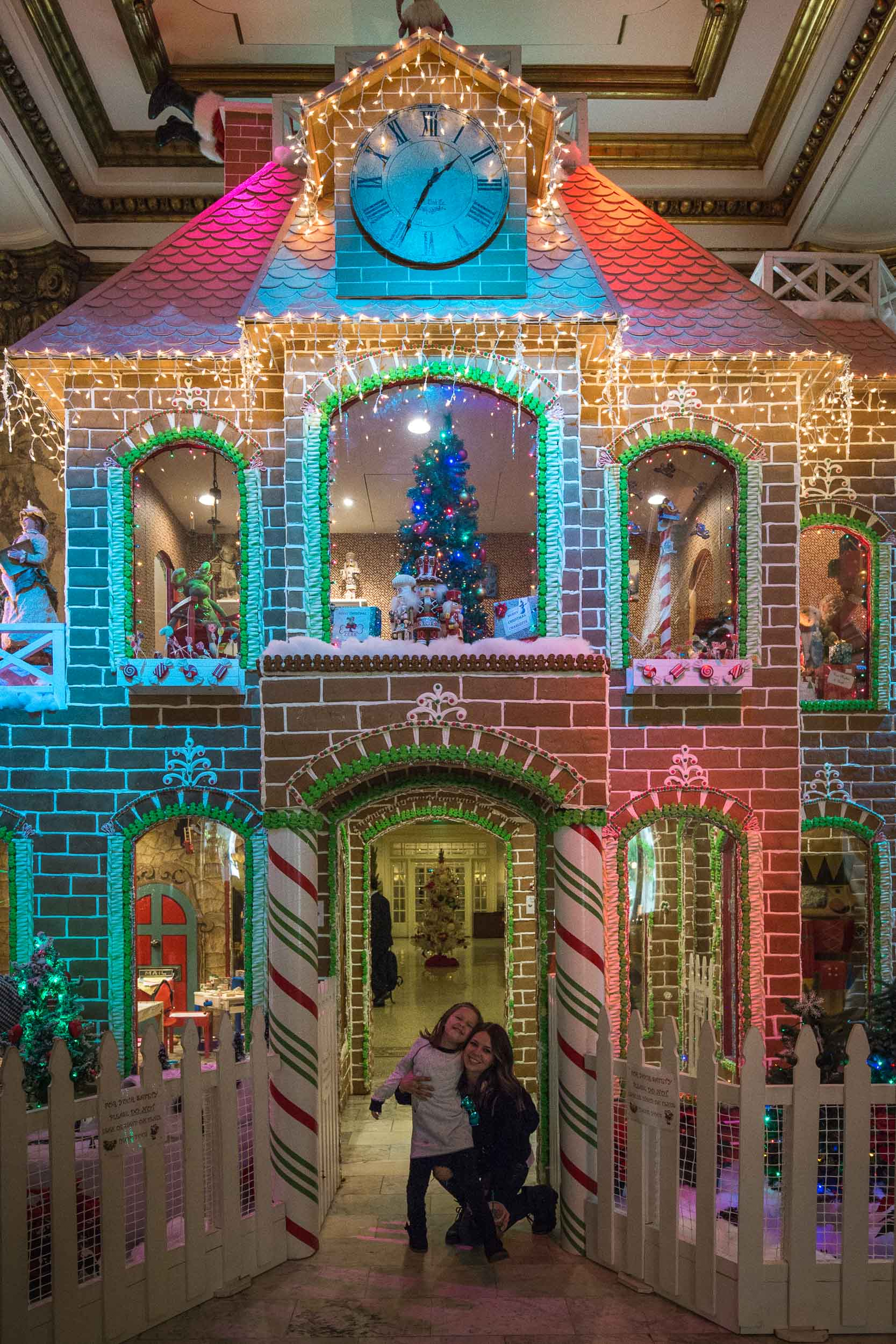World famous, life size Gingerbread House at The Fairmont San Francisco