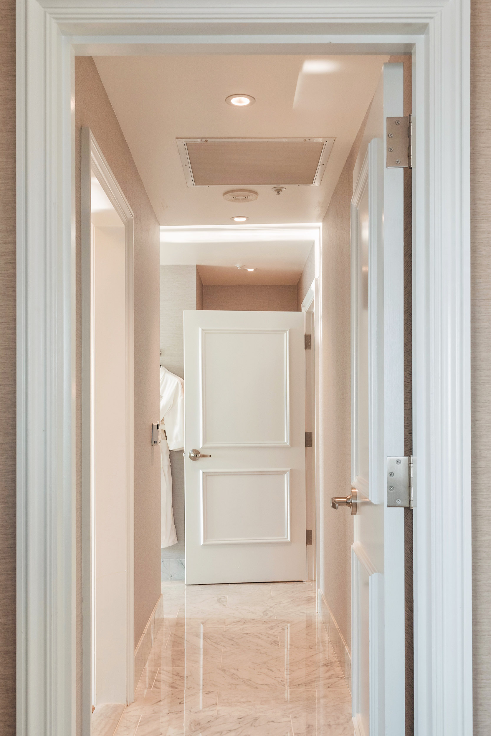 The entrance to the spa bathroom in the Presidential Suite