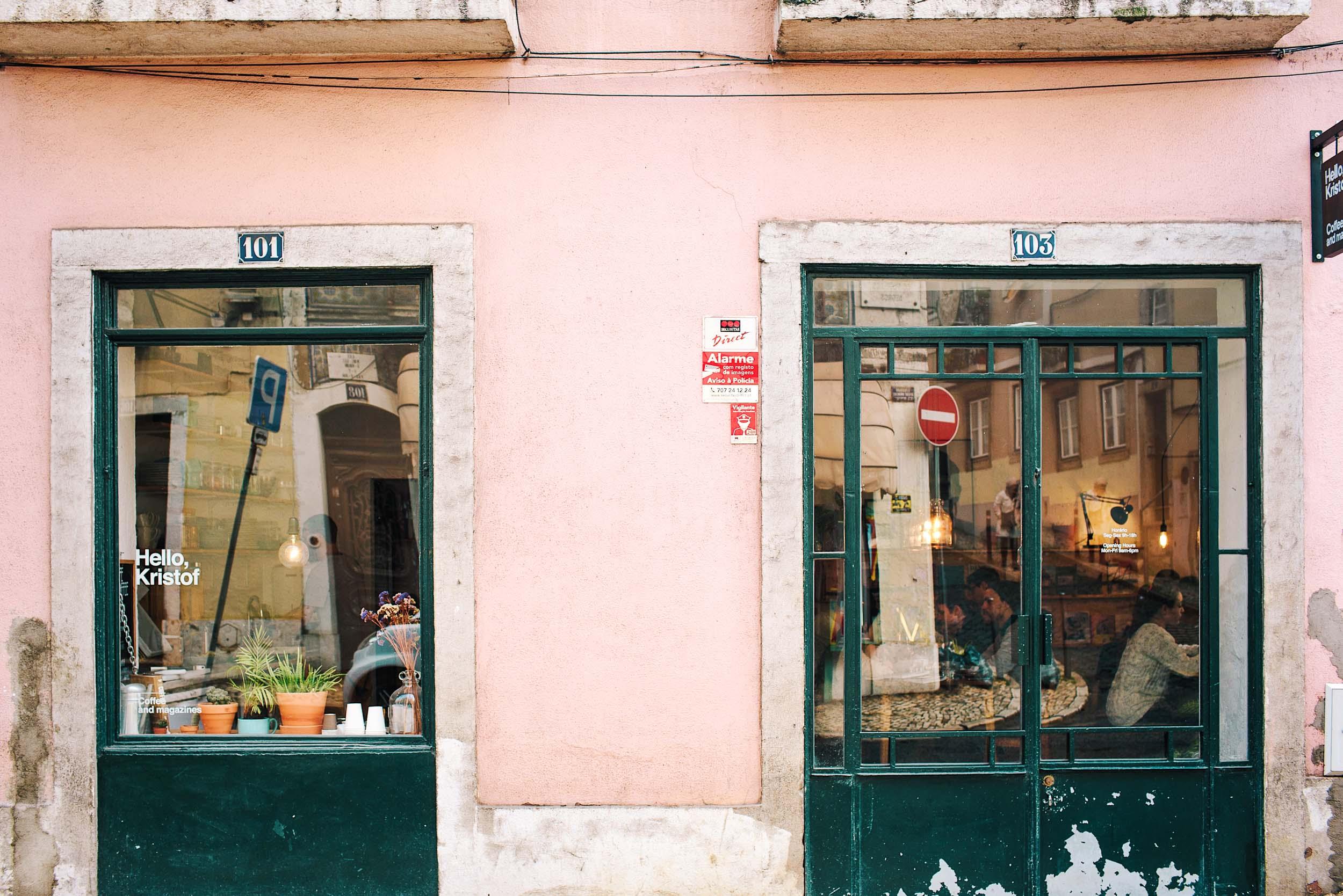 Hello, Kristof - an excellent coffee shop in Bairro Alto, Lisbon, Portugal