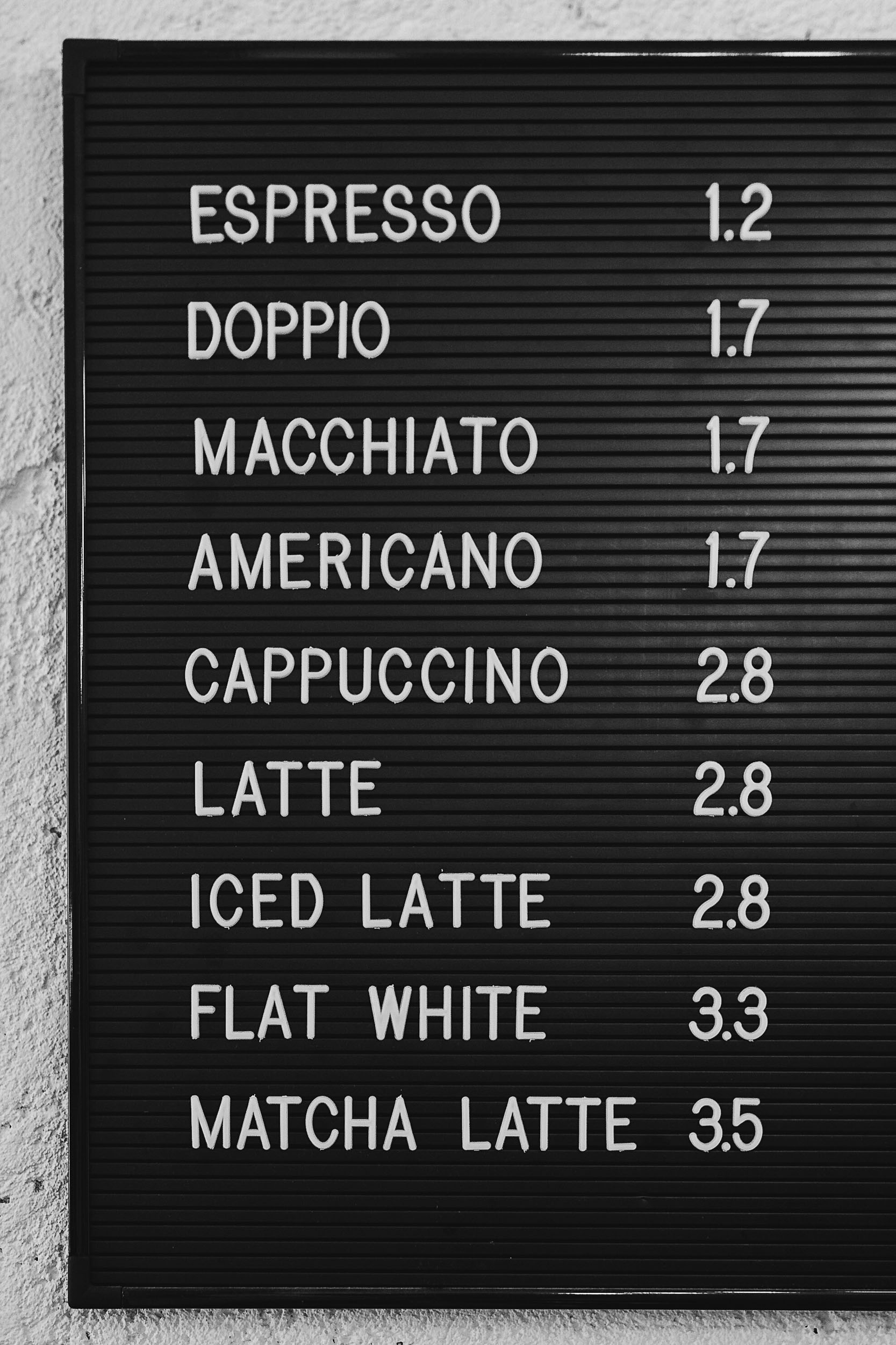 The coffee lineup at Hello, Kristof in Lisbon, Portugal