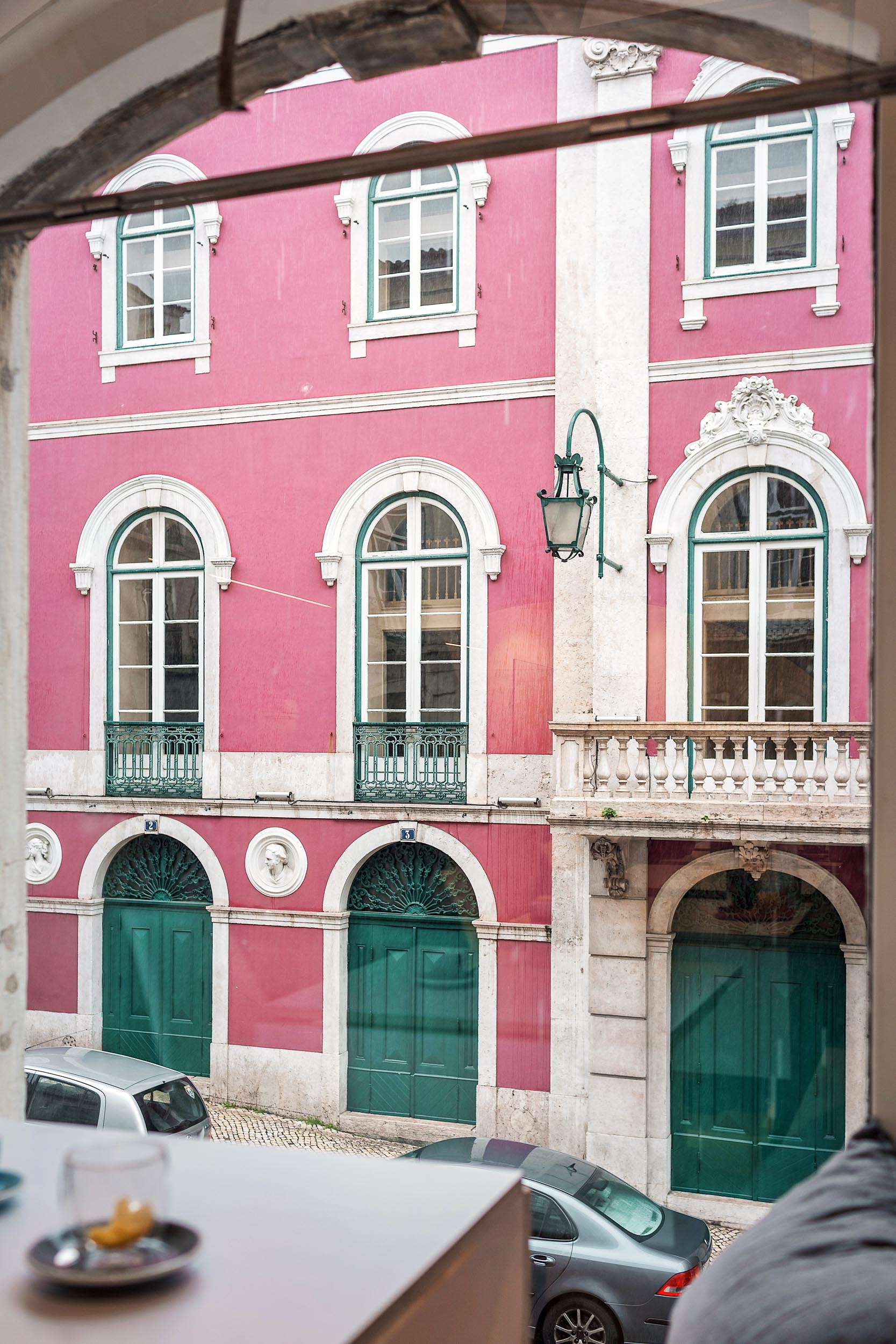 The view from Wish Slow Coffee House in Chiado, Lisbon, Portugal