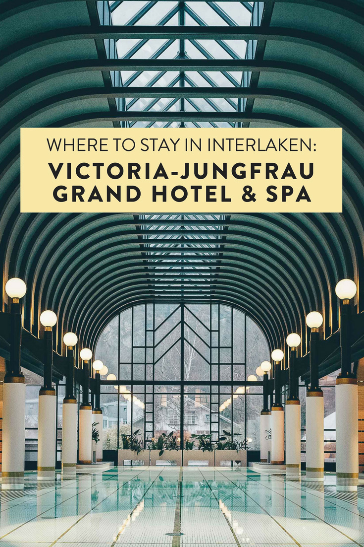 Heading to Interlaken and wondering where to stay? The ultra glam VICTORIA-JUNGFRAU Grand Hotel & Spa is one of my favorite hotels of all time. Every single corner is picture (Instagram) perfect!