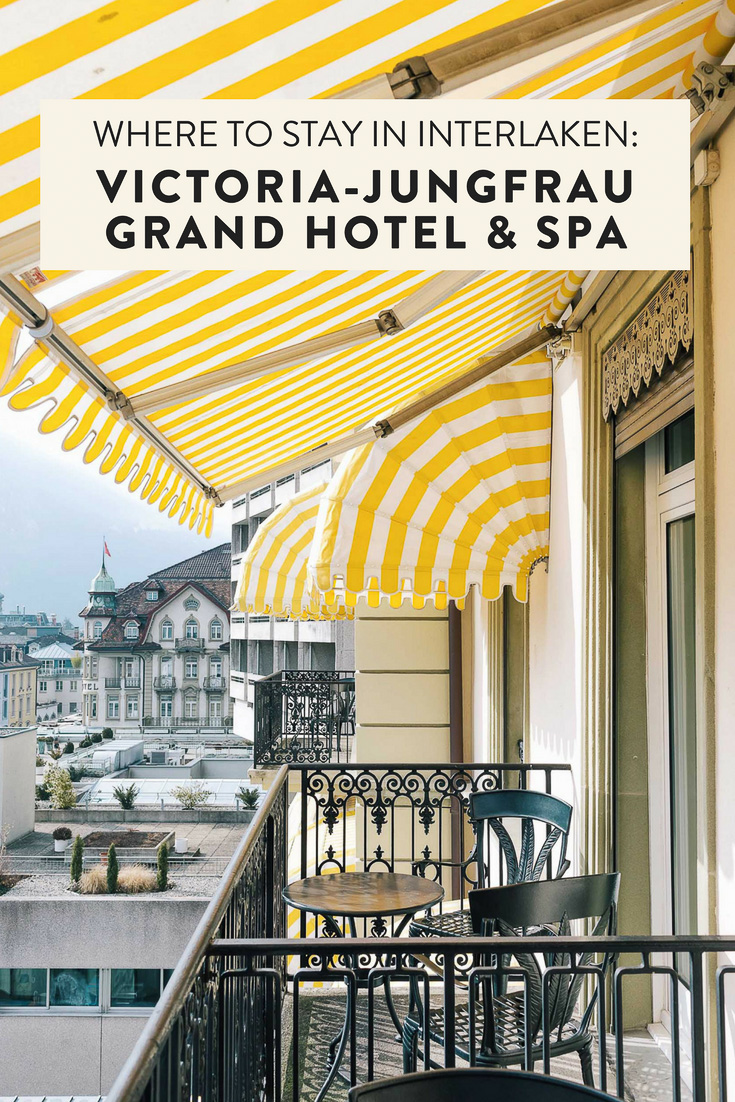 The most Instagrammable hotel in Interlaken and the Jungfrau Region: the VICTORIA-JUNGFRAU Grand Hotel & Spa. So glam and luxurious you will never want to leave!