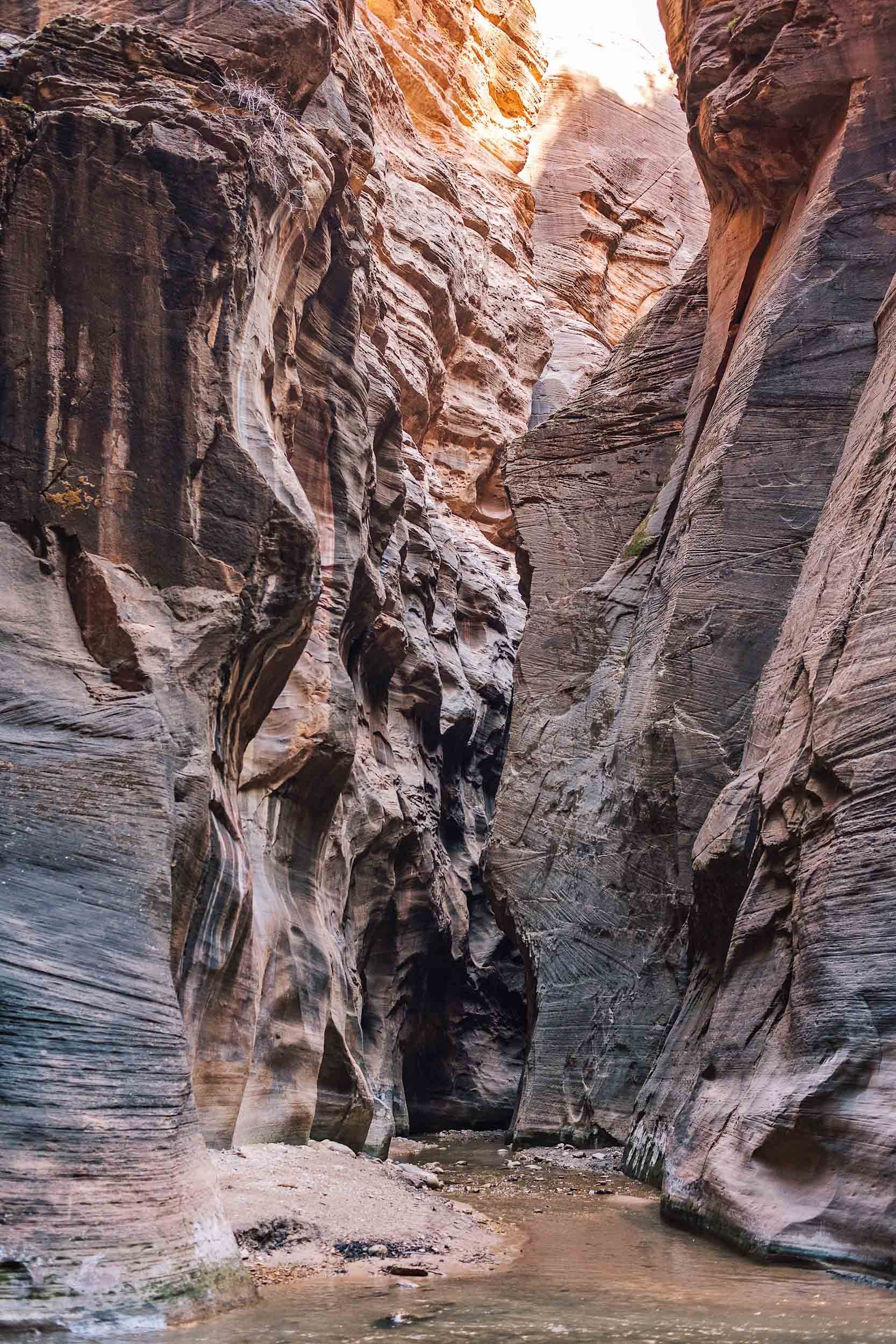 The Narrows at Zion National Park completely crowd-free during winter