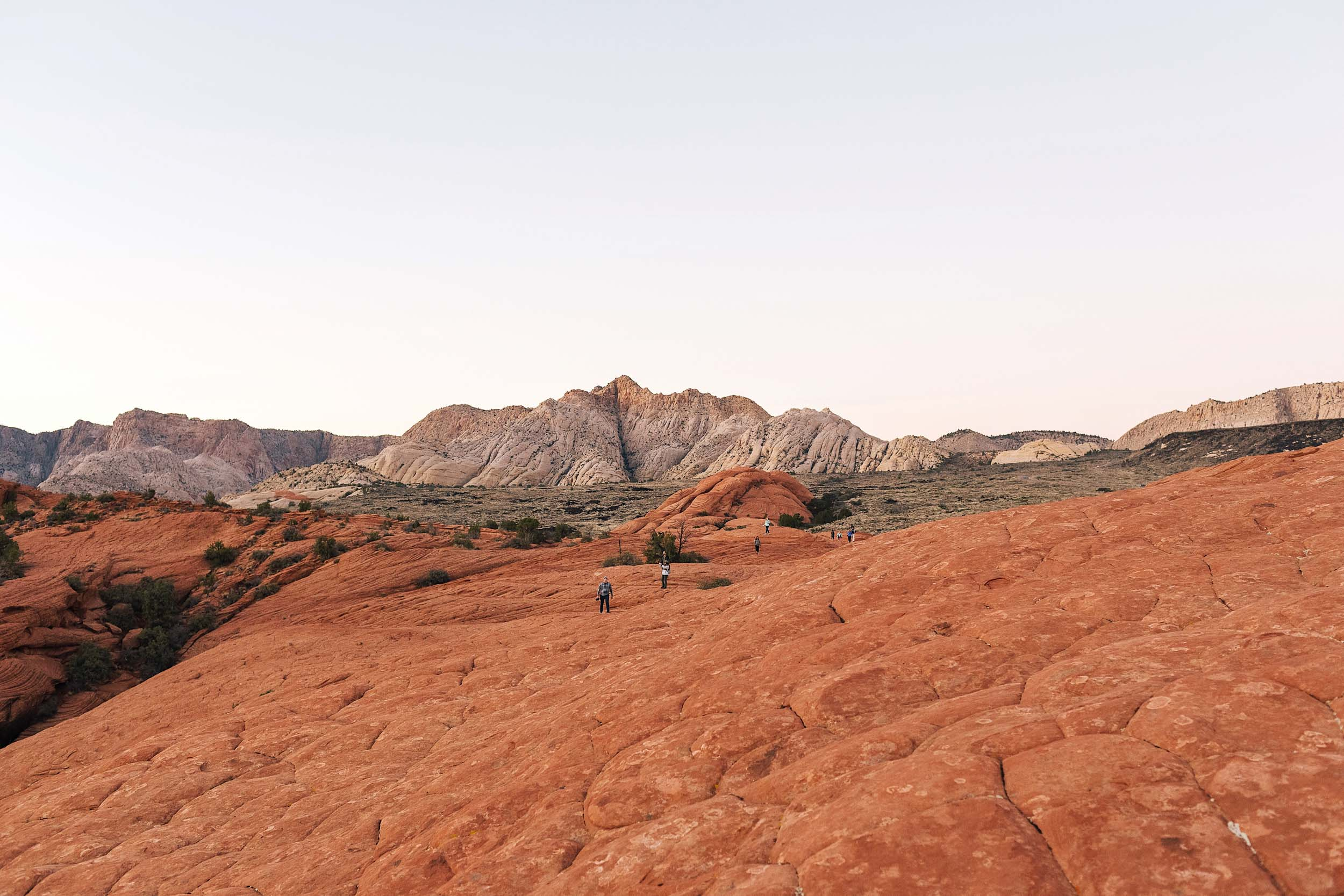 Just us at Snow Canyon National Park in winter.  No crowds!